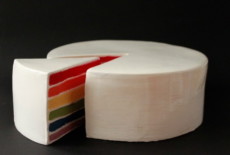 Rainbow Cakes - Ceramic glazed (2019)
